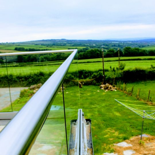 aluminox view from the top of frameless glass balustrade