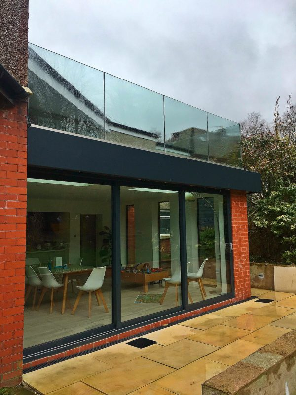 glass balustrade on a roof terrace by Vantage Balustrades