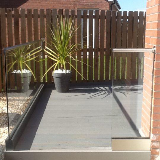 Glass balustrade installed