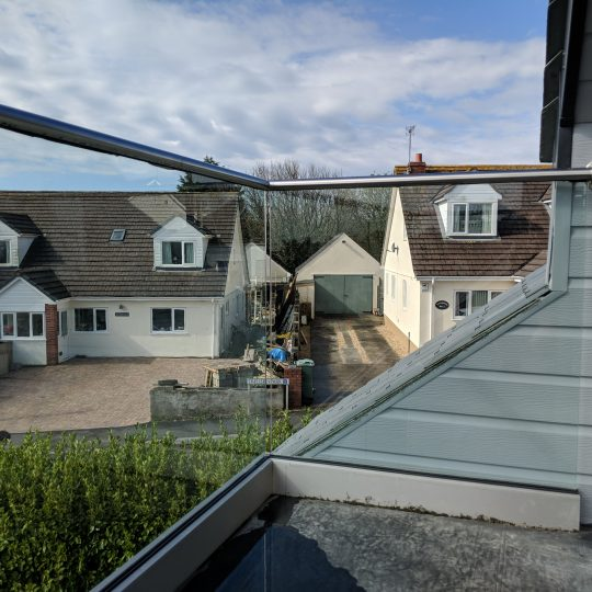 glass balustrade installed in cornwall
