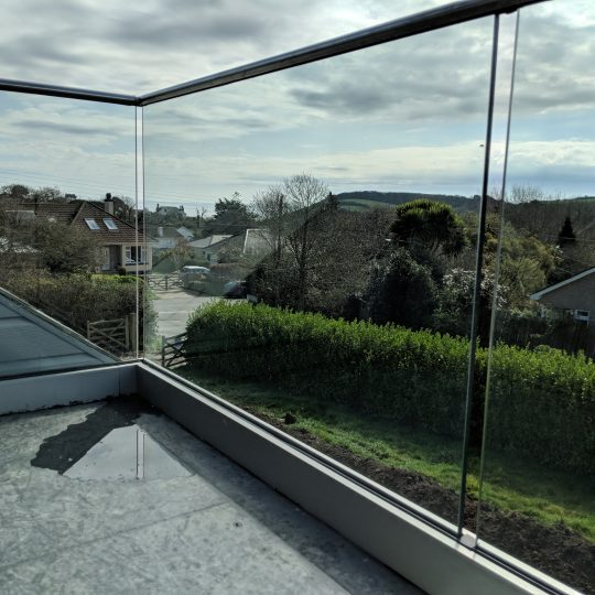 gorran in Cornwall frameless glass balustrade in cornwall