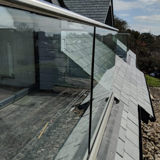 on frameless glass balustrade