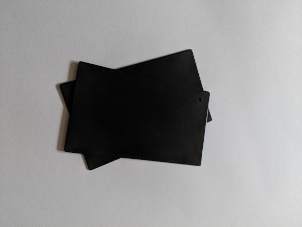 Powdercoated cap for solus frameless glass balustrade