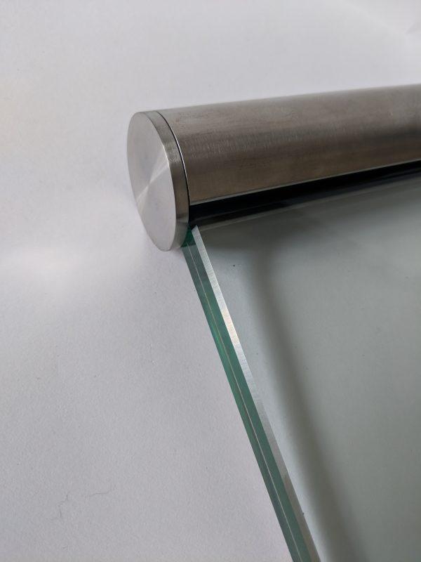 Aluminox Stainless steel slotted handrail for use on frameless glass balustrades