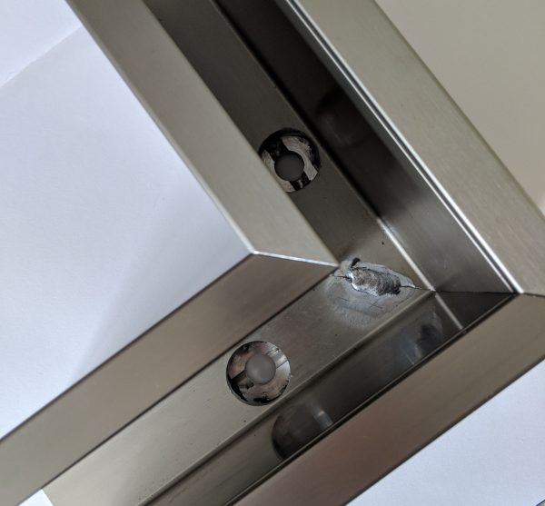 aluminox Solus balustrade channel pre made corner