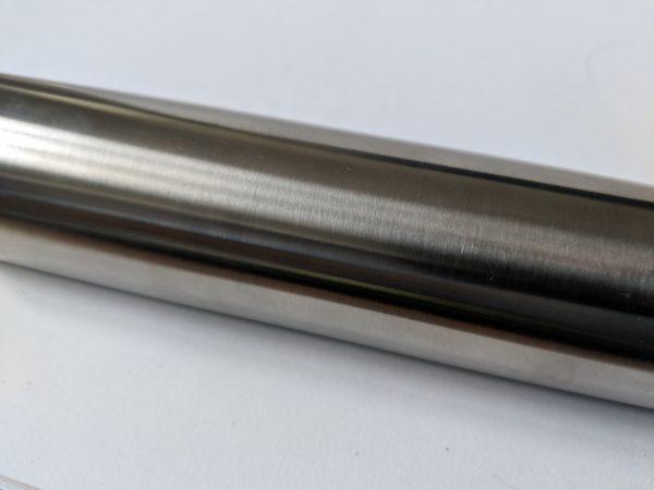 aluminox slotted stainless steel handrail for frameless glass balustrade