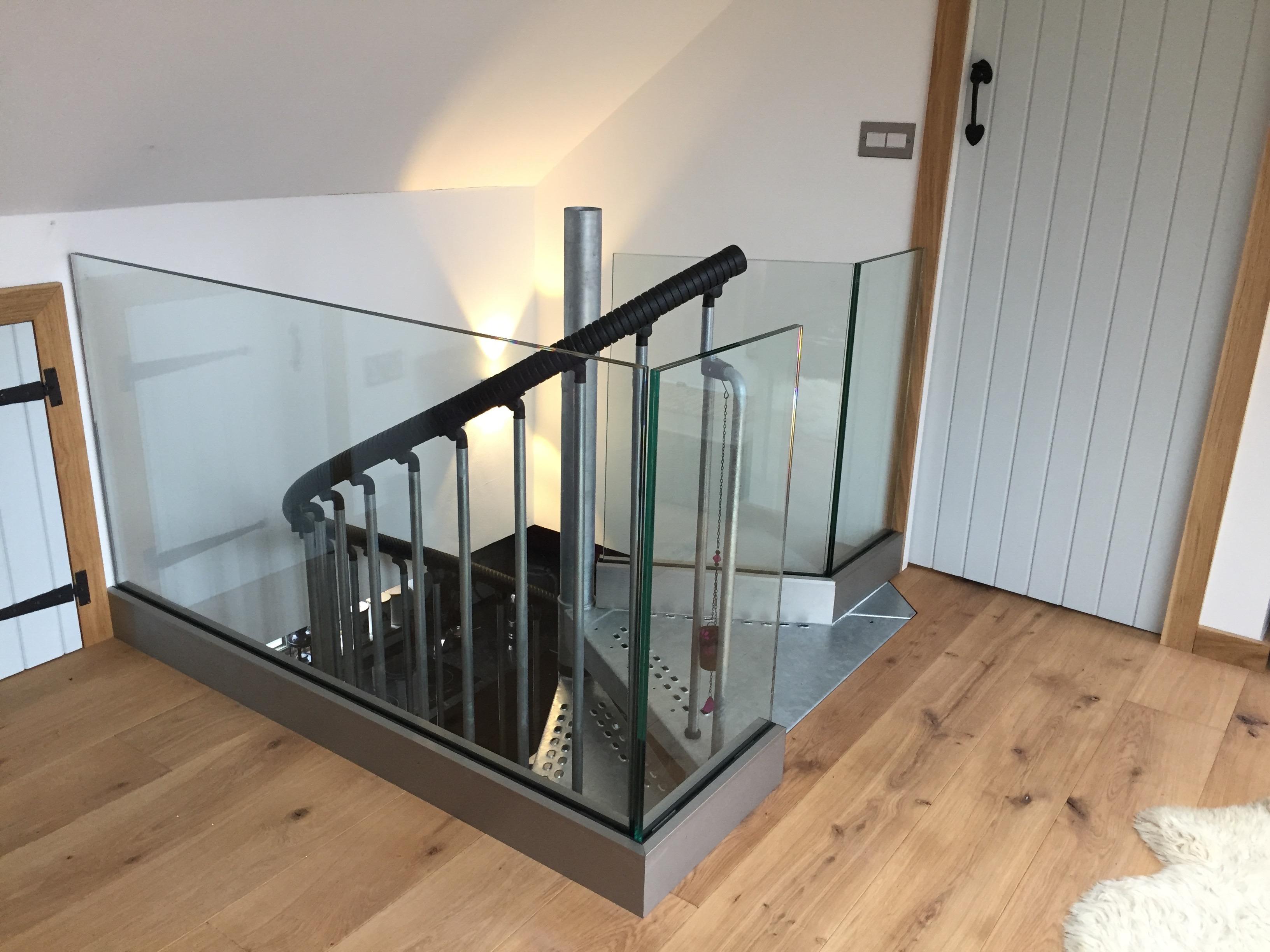 Frameless glass balustrade in scotland