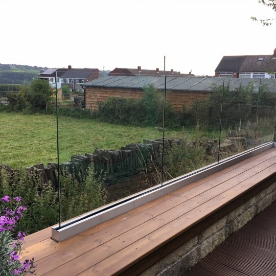 garden glass balustrade