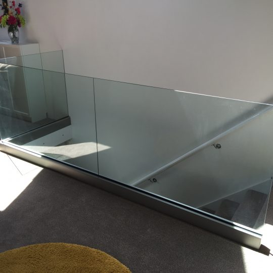 internal glass balustrade cornwall