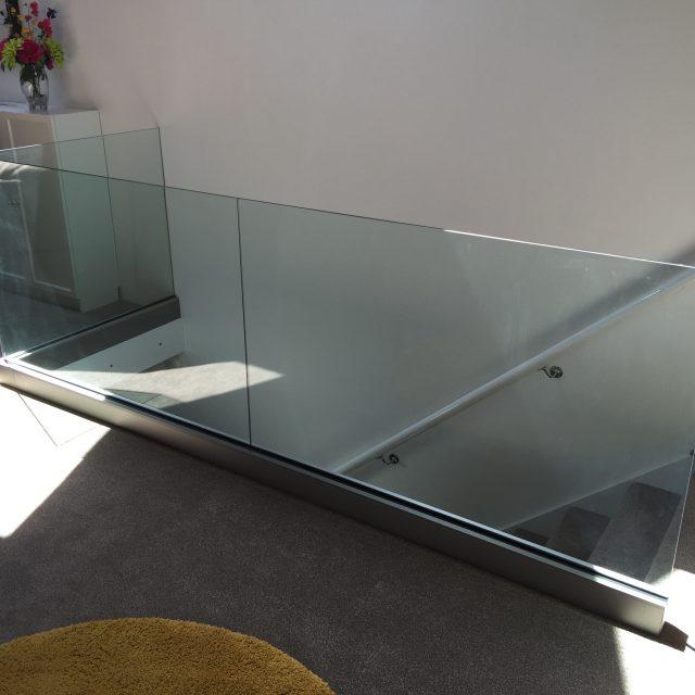 Solus internal glass balustrade on a landing.