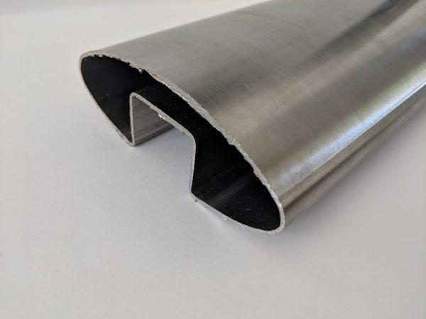 Oval slotted handrail aluminox balustrade