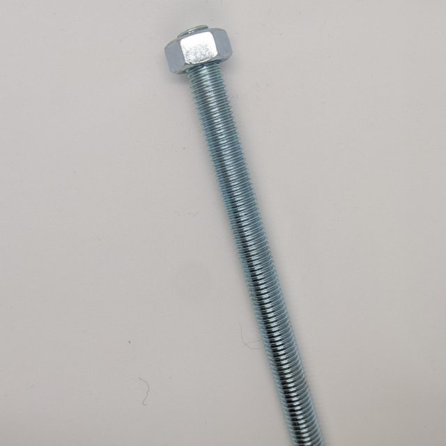 threaded bar with nuts for resin fix glass balustrade